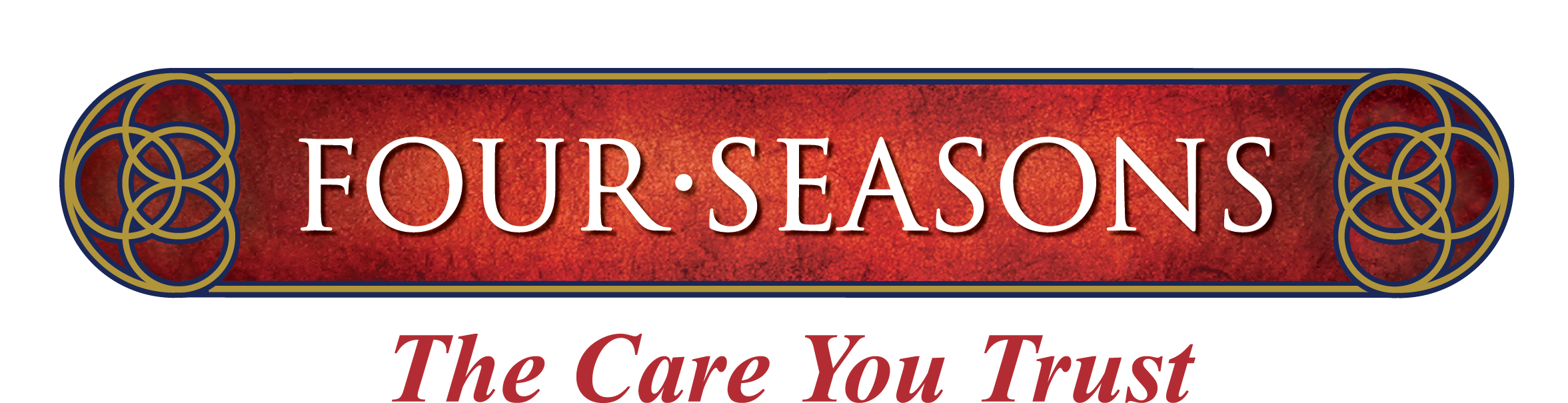 Four Seasons The Care You Trust logo Navy Thinner Rings
